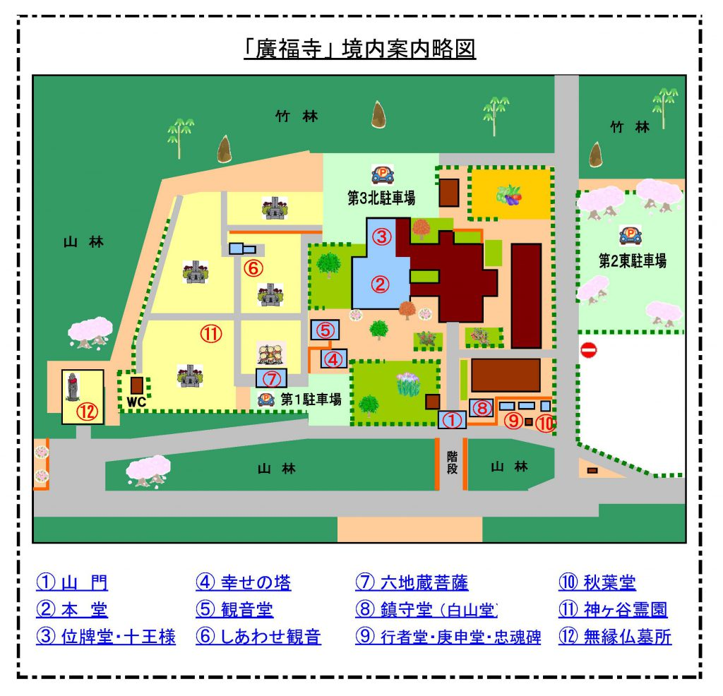 廣福寺 境内案内略図