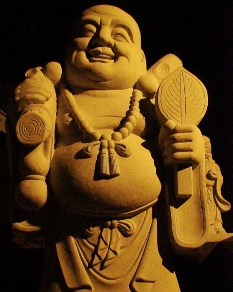幸せ布袋尊(夜間照明)